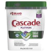 Cascade Platinum ActionPacs Dishwasher Detergent, Fresh, 62 Ct