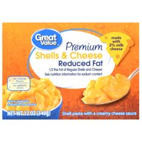 Great Value Premium Shells & Cheese, Reduced Fat, 12 oz