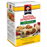 Quaker Harina Preparada Para Tortillas White Flour Tortilla Mix 128 oz. Bag