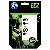 HP 60 Black Original Ink Cartridge, 2-Pack (CZ071FN)