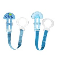 MAM Love & Affection Daddy Pacifier Clip, All Ages - 2ct Blue