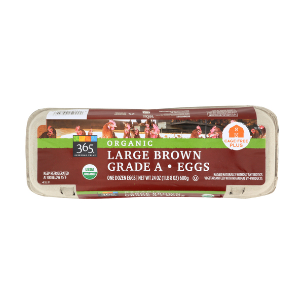 365 everyday value® Organic Large Brown Grade A Eggs, 1 Doz.