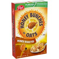 Post Honey Bunches Of Oats Breakfast Cereal, Honey Roasted, 18 Oz