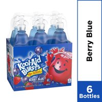 Kool-Aid Bursts Berry Blue Ready-To-Drink Soft Drink, 6 ct - 6.75 fl oz Bottles