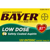 Bayer Aspirin Low Dose Safety Coated Tablets - 120 CT
