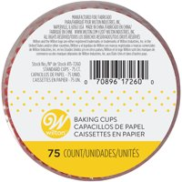 Wilton Cupcake Liners, Red, 75 Count