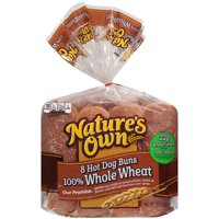 Nature's Own® 100% Whole Wheat Hot Dog Buns 13 oz. Bag
