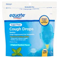 Equate Sugar Free Cough Drops, Menthol, 70 Ct