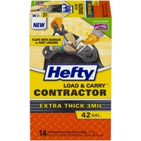 Hefty® Load & Carry™ Contractor 42 Gallon Extra Large Flap Tie Bags 14 ct Box