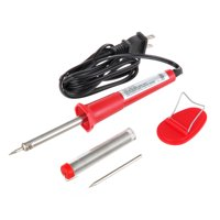 Hyper Tough 30W Soldering Iron With Extra Tip and Electrical Solder