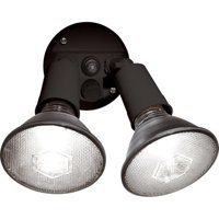 Brink's Dusk To Dawn Activated Flood Security Light, Bronze Finish