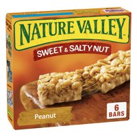 Nature Valley Sweet & Salty Nut Chewy Granola Bars, Peanut, 6 Ct, 7.4 Oz