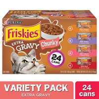 Friskies Extra Gravy Variety Pack Wet Cat Food, 5.5 oz. Cans