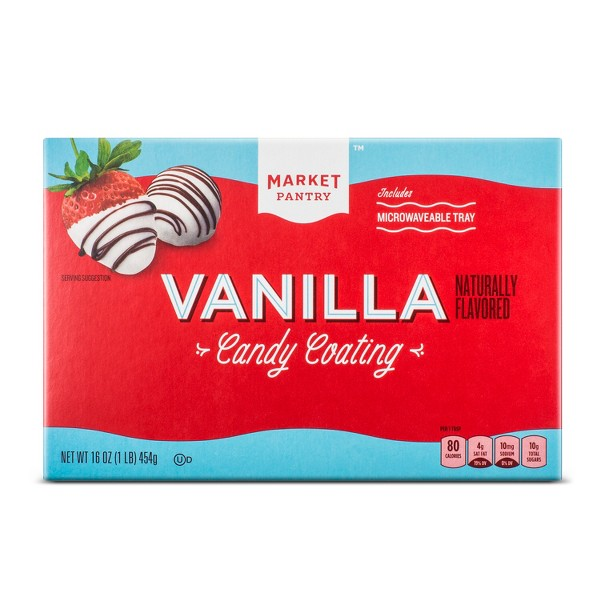 Naturally Flavored Vanilla Candy Coating - 16oz - Market Pantry™
