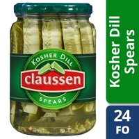 Claussen Kosher Deli-Style Pickle Spears, 24 fl oz Jar