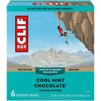 CLIF Bar Energy Bars, Cool Mint Chocolate, 9g Protein Bar, 6 Ct, 2.4 oz (Packaging May Vary)