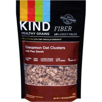 Kind Granola, Cinnamon Oat Clusters, with Flax Seeds