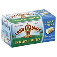 Land O' Lakes Unsalted Butter in Half Stick