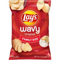 Lay's Wavy Potato Chips, Original Flavor, 9.5 oz Bag