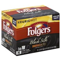 Folgers Black Silk Coffee, Dark Roast, K-Cup Pods for Keurig K-Cup Brewers, 36-Count