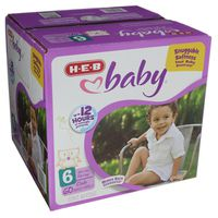 H-E-B Size 6 Baby Club Diapers Pack