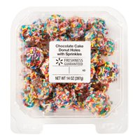 Freshness Guaranteed Chocolate Cake Donut Holes with Sprinkles, 14 oz