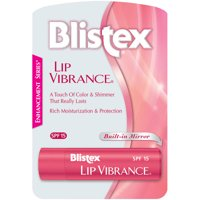 Blistex Lip Vibrance Lip Care Balm, SPF 15 Protection, For Chapped Lips, 1 stick, 0.13 oz