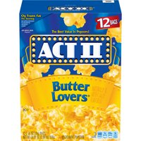 ACT II Butter Lovers Microwave Popcorn, 2.75 Oz, 12 Ct