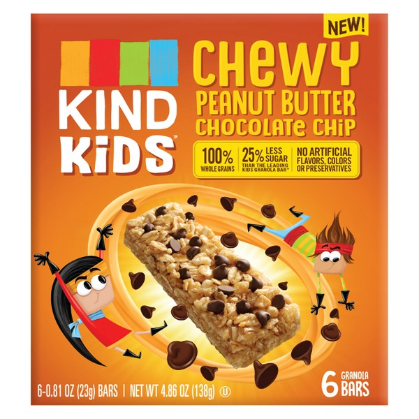 KIND Kid's Chewy Peanut Butter Chocolate Chip Granola Bars - 4.86oz