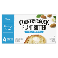 Country Crock Plant Butter with Almond Oil Sticks, 16 oz., 4 Count
