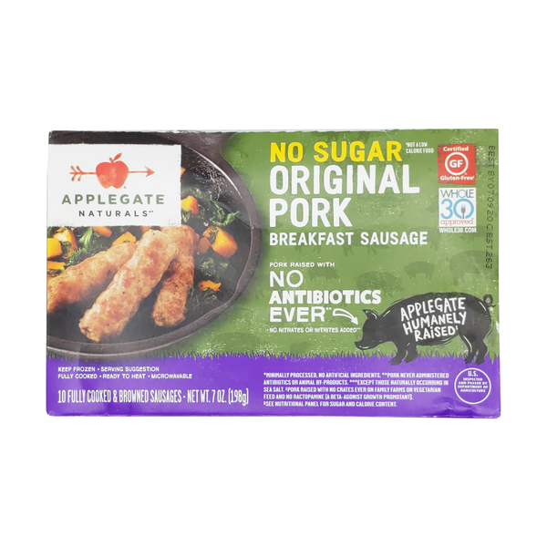 Applegate No Sugar Breakfast Pork Sausage Links, 7 oz