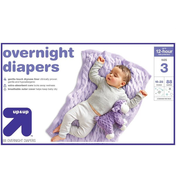 Overnight Diapers - (Select Size) - Up&Up™