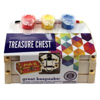 Horizon Group USA Paint Your Own Wooden Treasure Chest, 1 Each