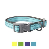 Vibrant Life Teal Reflective Comfort Collar for Dogs, M