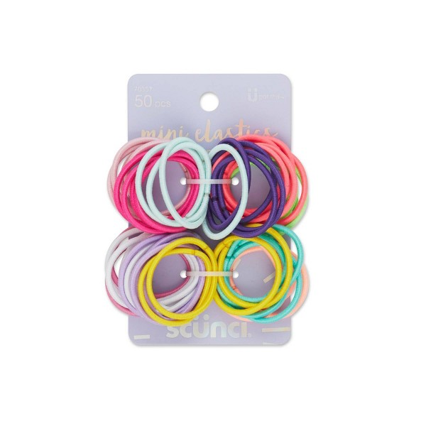 Scunci Elastics - Assorted Colors - 2mm/50pk