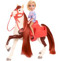 DreamWorks Spirit Riding Free Collector Doll & Horse, Abigail & Boomerang, Ages 3+