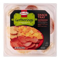Hormel Gatherings Pepperoni and Cheese Snack Tray; 14 oz.; Meat, Sargento Cheddar Cheese, Crackers
