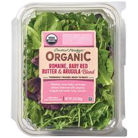 Central Market Organic Romaine, Baby Red Butter & Arugula Blend