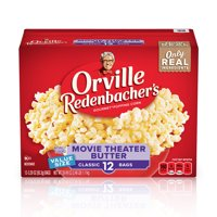Orville Redenbacher's Movie Theater Butter Microwave Popcorn, 12 Ct (3.29 Oz. Bags)
