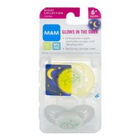 Mam Pacifiers Glows In The Dark Night Collection 6+ Months - 2 PK