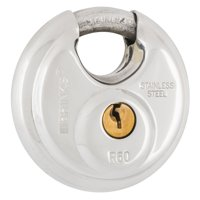 Brink's 60mm Promax Security Stainless Steel Discus Padlock