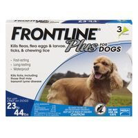 Frontline Plus For Dogs 23 To 44 Lbs.  - 3 CT