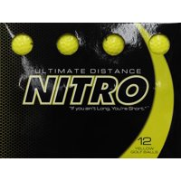 Nitro Golf Ultimate Distance Golf Balls, Yellow, 12 Pack