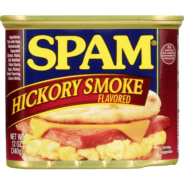 Spam Hickory Smoke Flavored Canned Meat 12 oz