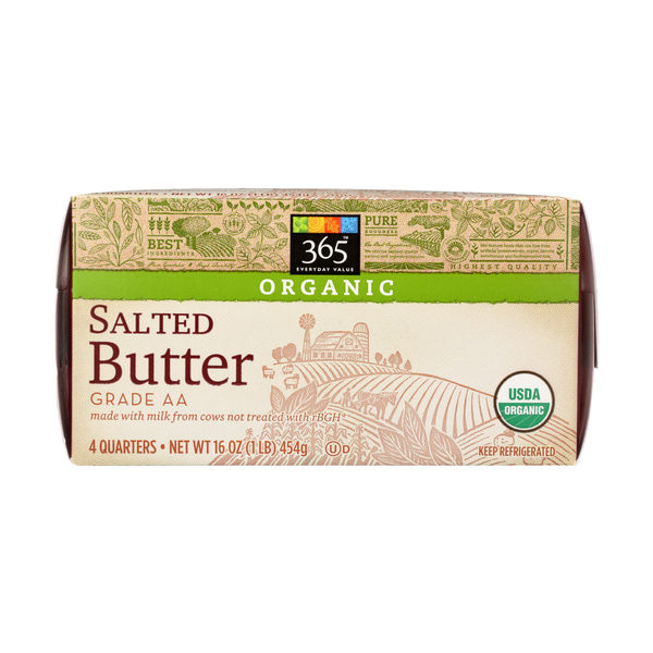 365 Everyday Value® Organic Salted Butter, 4 EACH