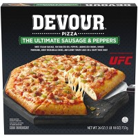 Devour The Ultimate Sausage and Peppers Frozen Pizza - 26oz