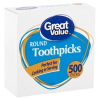 Great Value Round Toothpicks, 500 Count