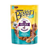 Purina Beggin' Strips Made in USA Facilities Dog Training Treats, With Bacon & Peanut Butter Flavor