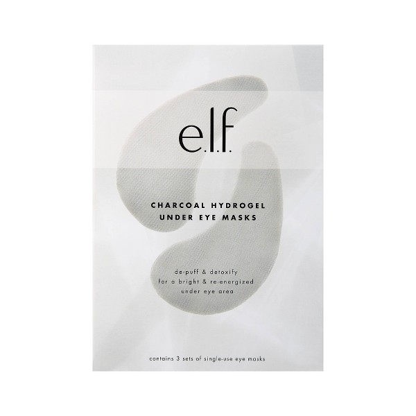 e.l.f. Charcoal Hydrogel Under Eye Mask - 0.14oz & 0.07oz