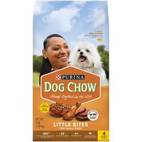 Purina Dog Chow Small Breed Dry Dog Food, Little Bites With Real Chicken & Beef